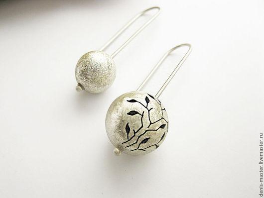 Ярмарка Мастеров, Kiwi Art Studio, серьги из серебра, оригинальные серьги, серьги серебро, серьги из серебра 925, серьги серебро 925, серебряные серьги, серебро серьги, серебро
