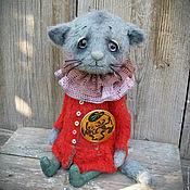 Куклы и игрушки ручной работы. Ярмарка Мастеров - ручная работа Котенок тедди Муся. котенок тедди котик тедди. Handmade.