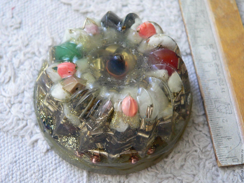 Эзотерические аксессуары ручной работы. Ярмарка Мастеров - ручная работа. Купить Оргонит с 9 кристаллами. Handmade. Целитель, кристалл кварца