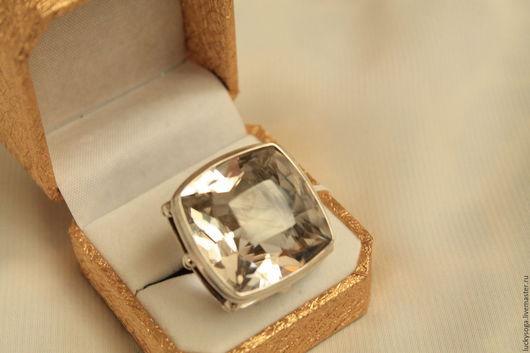 """Кольца ручной работы. Ярмарка Мастеров - ручная работа. Купить кольцо  с горным хрусталем """"Звездопад"""". Handmade. Белый, кольцо"""