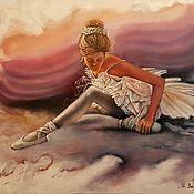 Картины и панно ручной работы. Ярмарка Мастеров - ручная работа Картина маслом Балеринка. Handmade.
