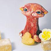 Подарки к праздникам handmade. Livemaster - original item Of Kanko. Flat cat. Handmade.