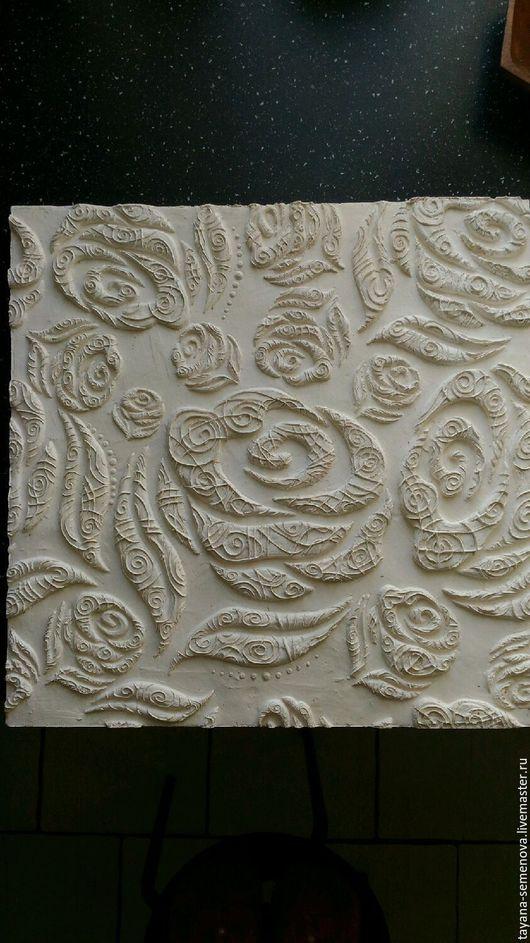 Элементы интерьера ручной работы. Ярмарка Мастеров - ручная работа. Купить Плитка гипсовая ручная работа Розы. Handmade. Разноцветный