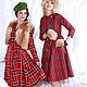 Платья ручной работы. Ярмарка Мастеров - ручная работа. Купить Платье из шотландки Сюзанна. Handmade. Ярко-красный, шотландка, платье