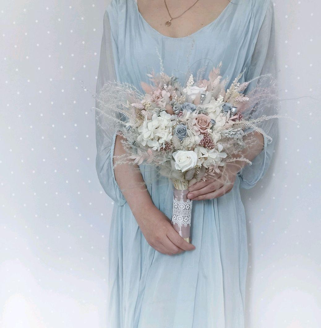 Свадебный букет из стабилизированных цветов и сухоцветов, Букеты, Красногорск,  Фото №1