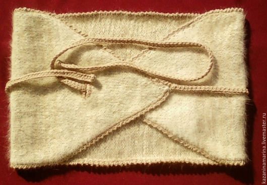 Пояса, ремни ручной работы. Ярмарка Мастеров - ручная работа. Купить Пояс из собачей шерсти. Handmade. Лечебный пояс