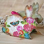 """Для дома и интерьера ручной работы. Ярмарка Мастеров - ручная работа Короб """"Кролик в розовом саду"""". Handmade."""