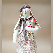 Куклы и игрушки ручной работы. Ярмарка Мастеров - ручная работа Зайка с букетом. Handmade.