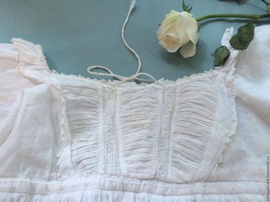Одежда. Ярмарка Мастеров - ручная работа. Купить Старинное крестильное платье. 19 в. Handmade. Белый, батистовое платье