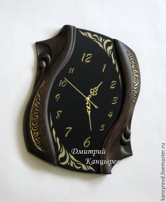 """Часы для дома ручной работы. Ярмарка Мастеров - ручная работа. Купить Настенные часы """"Изгибы времени"""". Handmade. Дизайнерские часы"""