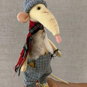 Куклы и игрушки ручной работы. Ярмарка Мастеров - ручная работа Крыс Троня символ года 2020. Handmade.