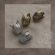 Материалы для творчества ручной работы. Ярмарка Мастеров - ручная работа Колпачок Тюльпан большой (античное золото,sterling silver ). Handmade.