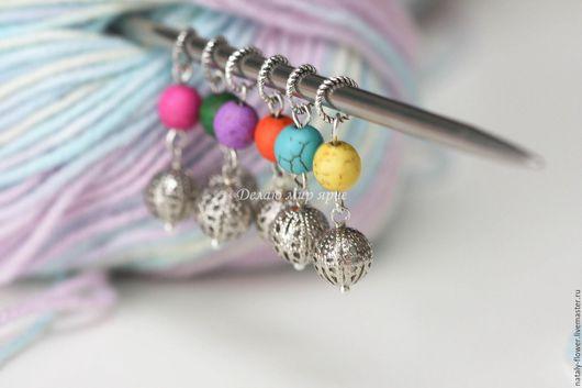 Вязание ручной работы. Ярмарка Мастеров - ручная работа. Купить Маркеры для вязания. Handmade. Комбинированный, вязать с маркерами