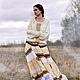 Алина Сапогова: Длинная юбка в славянском стиле. Юбка бохо с кружевом `Foggy Albion` Фотограф Александр Сапогов