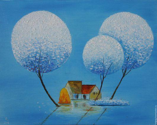 Фантазийные сюжеты ручной работы. Ярмарка Мастеров - ручная работа. Купить Жизнь в голубом цвете. Handmade. Голубой, коричневый, вьетнам