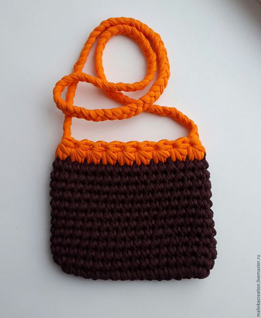 Вязаный клатч Chocolate&Orange от Malinka_Creations