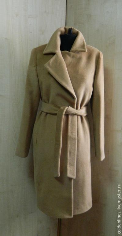Верхняя одежда ручной работы. Ярмарка Мастеров - ручная работа. Купить пальто классика- однобортное. Handmade. Бежевый, пальто из шерсти