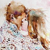 Картины и панно handmade. Livemaster - original item Watercolor dawn. Handmade.