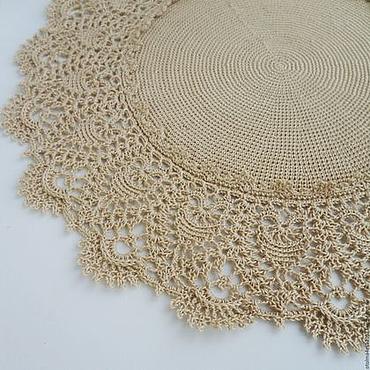Для дома и интерьера handmade. Livemaster - original item Doily Pineapple Fancy Crochet HandMade (design by P.Kristoffersen). Handmade.