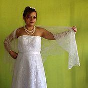 Свадебный салон ручной работы. Ярмарка Мастеров - ручная работа Свадебная шаль из мохера на шелке Ландыш. Handmade.