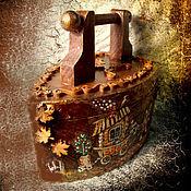 Для дома и интерьера ручной работы. Ярмарка Мастеров - ручная работа Утюг-шкатулка, винтаж (деревянный,авторский). Handmade.