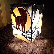 """Для дома и интерьера ручной работы. Ярмарка Мастеров - ручная работа светильник в технике Тиффани """"Полнолуние"""". Handmade."""