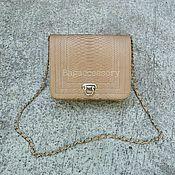 Классическая сумка ручной работы. Ярмарка Мастеров - ручная работа Сумка из натуральной кожи питона. Handmade.