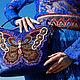 """Женские сумки ручной работы. Ярмарка Мастеров - ручная работа. Купить Сумка с вышивкой """"Butterfly"""". Handmade. Разноцветный, рисунок"""