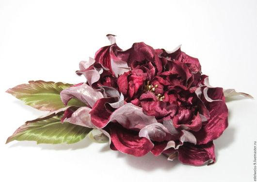 Цветы ручной работы. Ярмарка Мастеров - ручная работа. Купить Роза из шёлка Катерина. Handmade. Фуксия, цветы из ткани