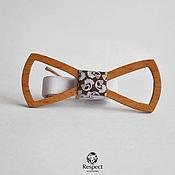 Аксессуары handmade. Livemaster - original item Wooden butterfly Paisley Ayr beech / tie, brown. Handmade.
