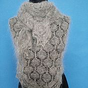 Аксессуары handmade. Livemaster - original item 304 down scarf orenburg accessories goat down light gray. Handmade.