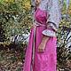 Одежда ручной работы. Платье алтайского покроя с сатиновым верхом. СЛАВный стиль от Заряны. Интернет-магазин Ярмарка Мастеров.