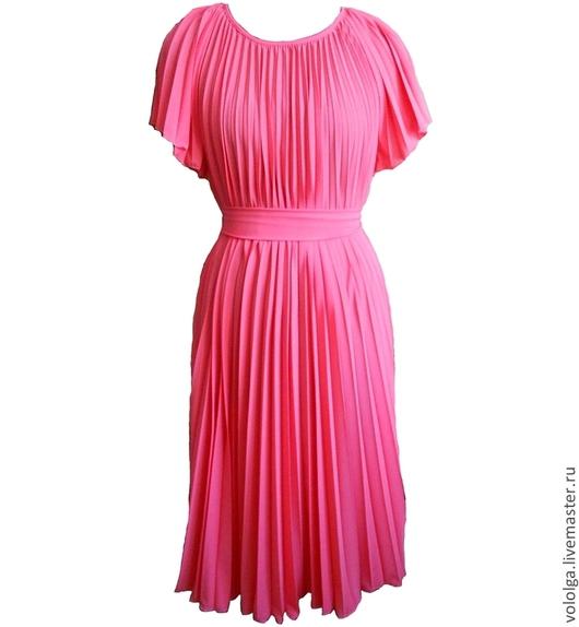Платья ручной работы. Ярмарка Мастеров - ручная работа. Купить Платье коралл. Handmade. Коралловый, легкое платье, креп