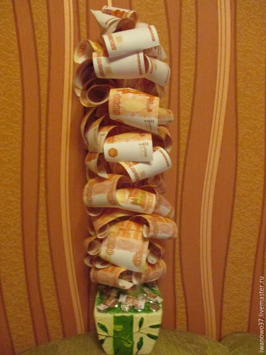 Персональные подарки ручной работы. Ярмарка Мастеров - ручная работа. Купить денежное дерево. Handmade. Зеленый, глиняный горшок
