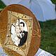 Подарки на свадьбу ручной работы. Заказать Декоративная тарелка с Вашей фотографией. Александра Балашова. Ярмарка Мастеров. Подарок на годовщину, золотой