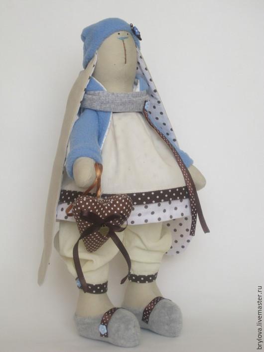 Куклы Тильды ручной работы. Ярмарка Мастеров - ручная работа. Купить Зайка Кэри. Handmade. Голубой, зайка в подарок, хлопок