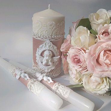 Свадебный салон ручной работы. Ярмарка Мастеров - ручная работа Свадебные свечи с ангелами. Handmade.