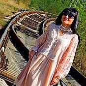 Одежда ручной работы. Ярмарка Мастеров - ручная работа БОХО платье осеннее (№197). Handmade.