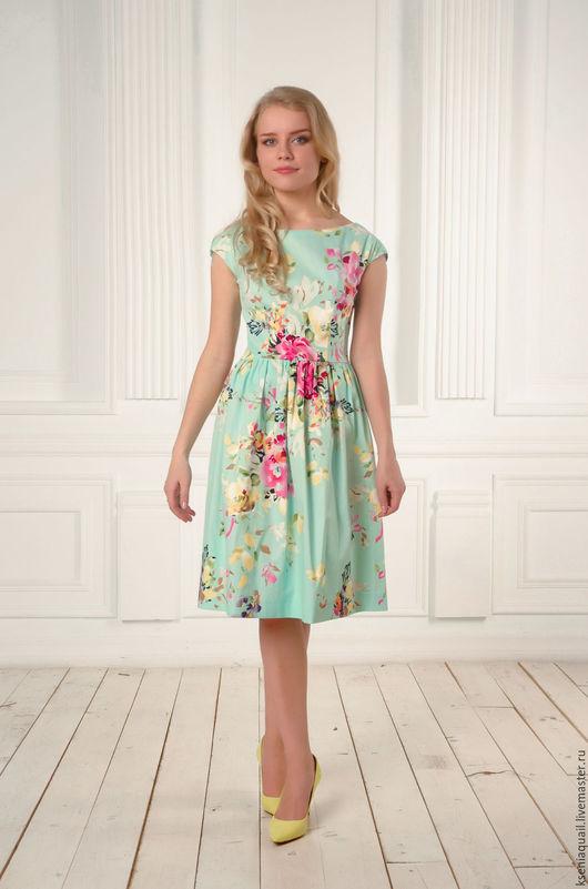 """Платья ручной работы. Ярмарка Мастеров - ручная работа. Купить Платье """"Цветочный вальс""""-6. Handmade. Летнее платье"""