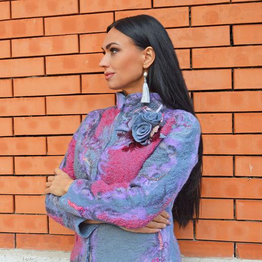 """Верхняя одежда ручной работы. Ярмарка Мастеров - ручная работа. Купить Пальто валяное """"Вирджиния"""". Handmade. Жилет валяный, Валяние"""