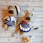 Мягкие игрушки ручной работы. Ярмарка Мастеров - ручная работа Мишки-морячки. Handmade.