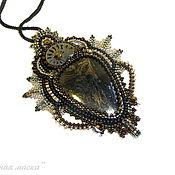 Украшения handmade. Livemaster - original item Black Mysterious mask pendant. Handmade.