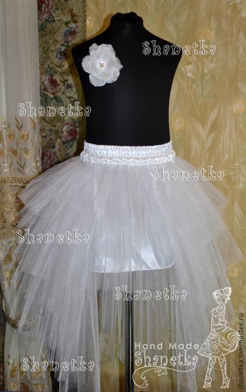 Длинная юбка из фатина для девочки