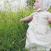 Работы для детей, handmade. Livemaster - original item Baptismal dress Vologda lace 210. Handmade.