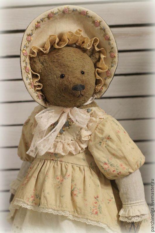 Мишки Тедди ручной работы. Ярмарка Мастеров - ручная работа. Купить Авдотья. Handmade. Бежевый, мишка девочка, тедди медведи