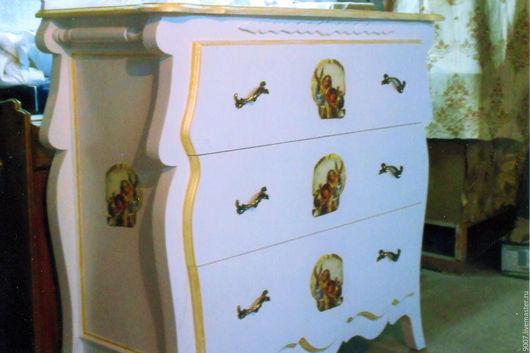 Мебель ручной работы. Ярмарка Мастеров - ручная работа. Купить комод в стиле прованс. Handmade. Белый, ручная авторская работа