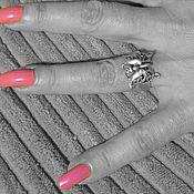 Винтаж ручной работы. Ярмарка Мастеров - ручная работа Бабочка Кольцо Серебро - 267. Handmade.