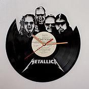 """Часы классические ручной работы. Ярмарка Мастеров - ручная работа Часы """"Metallica"""". Handmade."""