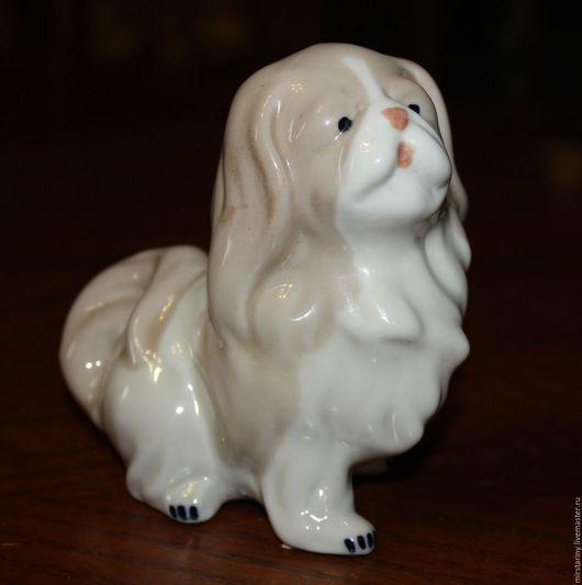 Винтажные предметы интерьера. Ярмарка Мастеров - ручная работа. Купить Фарфоровая статуэтка собачки породы Бишон Хаванез, Испания. Handmade.