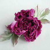 Цветы и флористика handmade. Livemaster - original item Flowers made of fabric. Silk flowers. Rosa Amalia. Handmade.